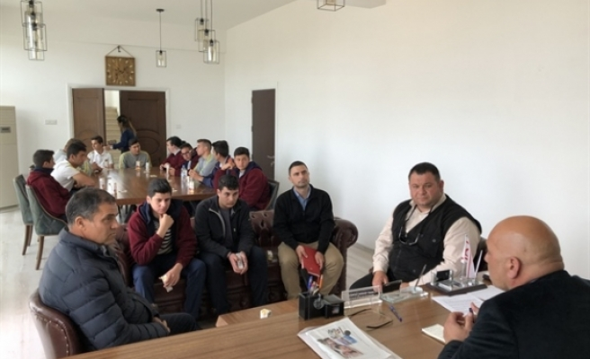 Tarım Bölümü öğrencilerinden Belediye'ye ziyaret