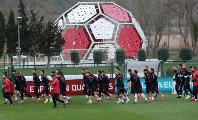 Türkiye A Milli Futbol Takımı hazırlıklarını sürdürdü