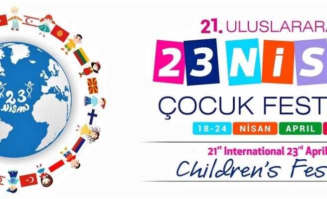 """21. Uluslararası 23 Nisan Çocuk Festivali"""" yarın başlıyor"""