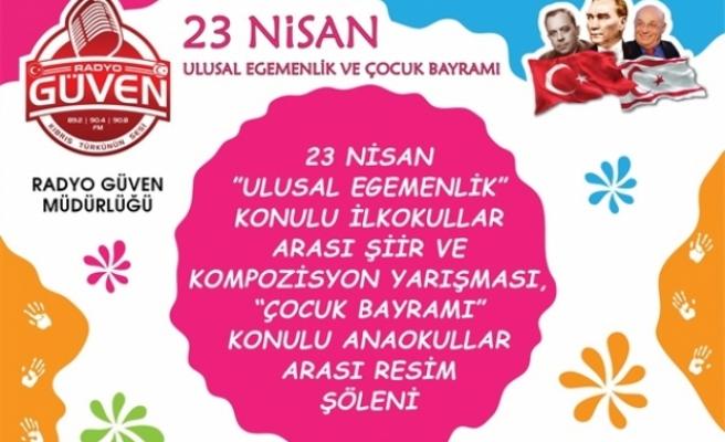 """""""23 Nisan Ulusal Egemenlik"""" konulu ilkokullar arası şiir ve kompozisyon yarışması"""