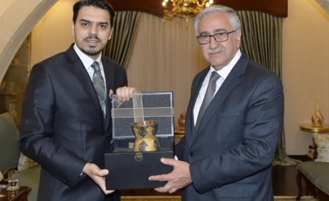 Akıncı, Yurtdışı Türkler ve Akraba Toplulukları Başkanı Abdullah Eren ve beraberindeki heyeti kabul etti