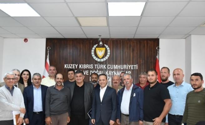 Bakan Şahali, Hayvan Üreticileri ve Yetiştiricileri Birliği'nin yeni yönetim kurulunu kabul etti
