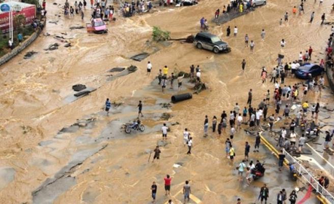 Çin'de sel: 7 ölü, 4 kayıp