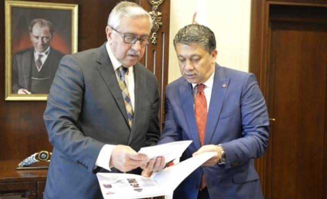 Cumhurbaşkanı Akıncı, Mehmet Ali Dim'i kabul etti