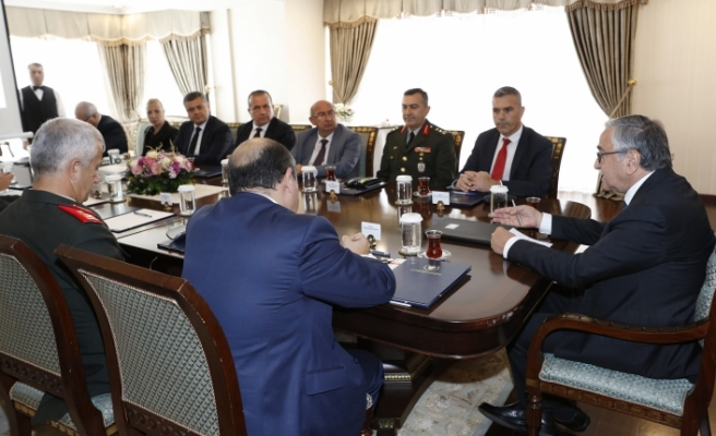 """Cumhurbaşkanlığı'nda """"Yeşil Alan Projesi"""" toplantısı"""