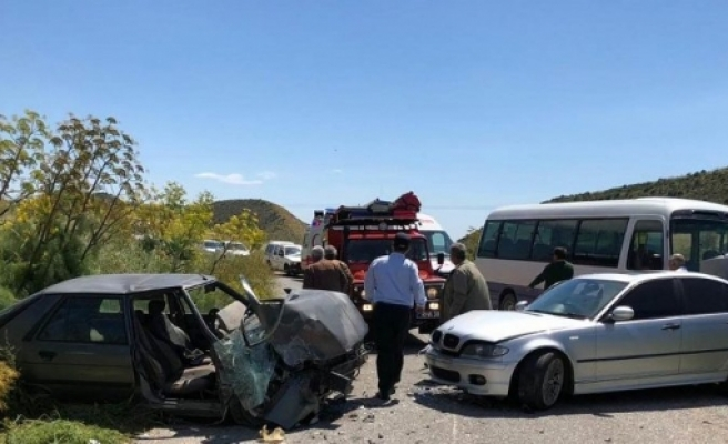 Geçitkale-Mallıdağ ana yolundaki kazada: 2'si çocuk 4 yaralı