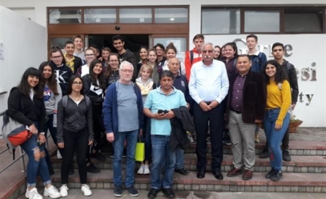 Güngördü, 19 Mayıs TMK ve Alman öğrenci grubunu kabul etti