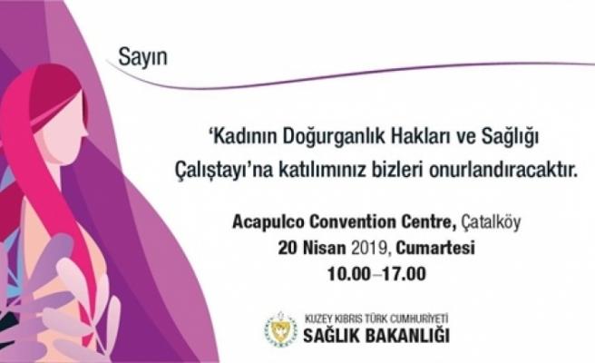 """Kadının Doğurganlık Hakları ve Sağlığı"""" konulu çalıştay düzenleniyor"""