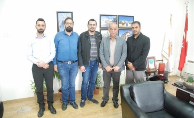 Kıbrıs Türk Elektrik Müteahhitleri Birliği, Lefke Belediye Başkanı  Kaya'yı ziyaret etti