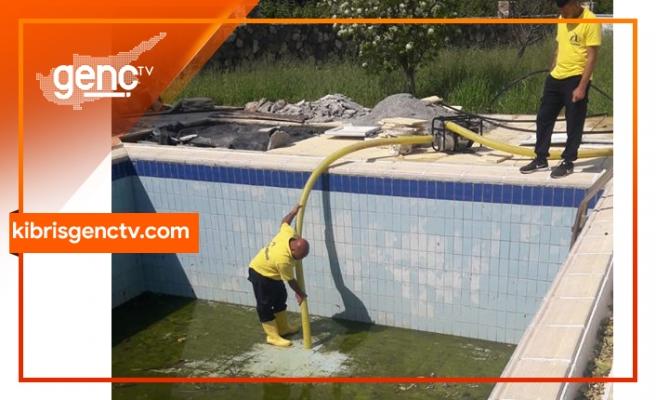 Lapta Belediyesi'nden kirli bırakılan havuzlar konusunda uyarı!
