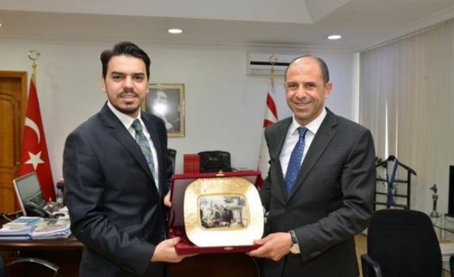 Özersay, Türkiye Cumhuriyeti Yurtdışı Türkler ve Akraba Topluluklar Başkanı Abdullah Eren'i kabul etti