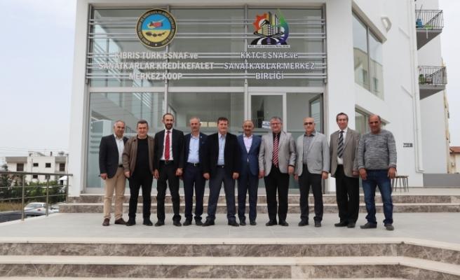 YDP,heyeti, Esnaf ve Sanatkarlar merkez birliği'ni ziyaret etti