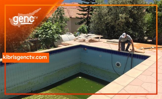 Alsancak Belediyesi, kirli  havuzlar konusunda uyardı