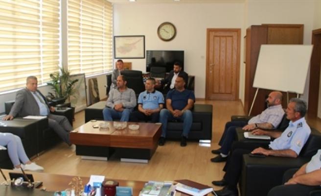 Arter, belediyede örgütlü Mağusa Türk Genel İş Sendikası yönetimiyle görüştü
