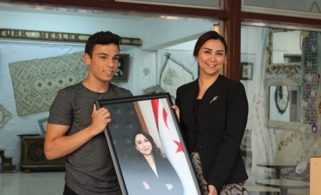Baybars Atatürk Meslek Lisesi Yılsonu Sergisi'nin açılışını yaptı