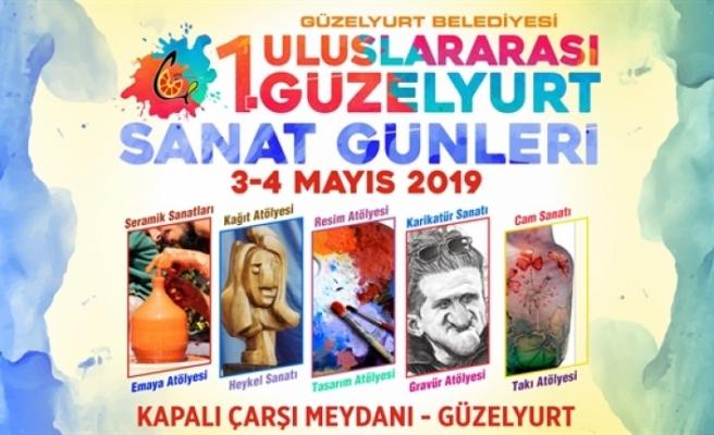 Güzelyurt Belediyesi'nin düzenlediği 1. Uluslararası Sanat Günleri yarın başlıyor