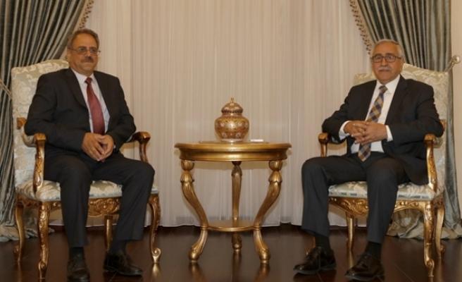 Mehmet Borak, Cumhurbaşkanı Mustafa Akıncı'ya veda ziyaretinde bulundu