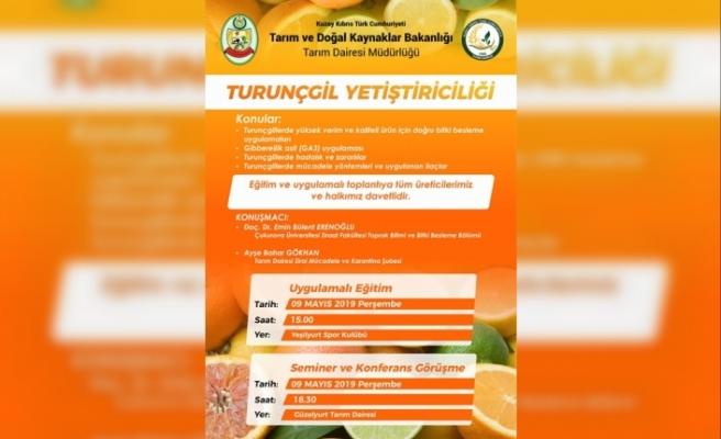 Tarım Bakanlığı'ndan Turunçgil eğitimi