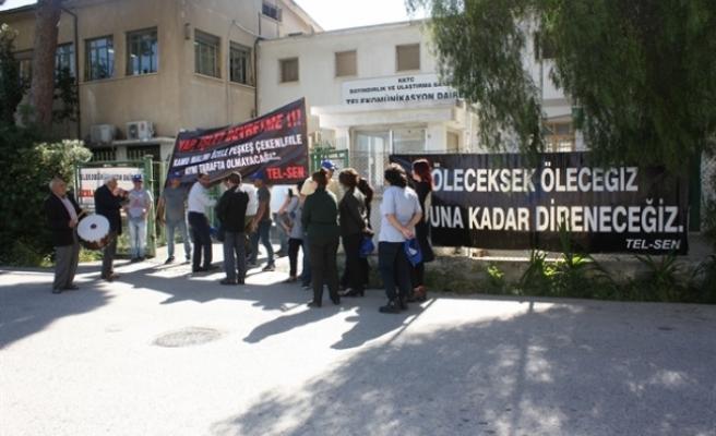 Tel-Sen, Lefkoşa'da 'Davullu zurnalı' eylem yaptı