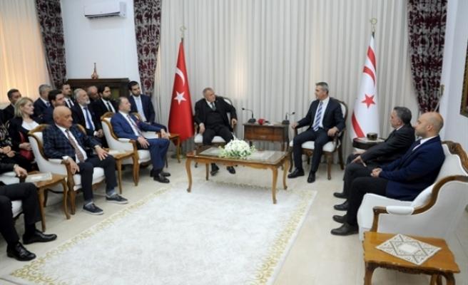 Uluçay, TC Genç Girişim ve Yönetişim Derneği ile Türk Sanayi İşadamları Vakfı'nı kabul etti