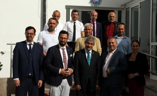 Akdeniz Gazeteciler Federasyonu heyetinden Dış Basın Birliği'ne ziyaret