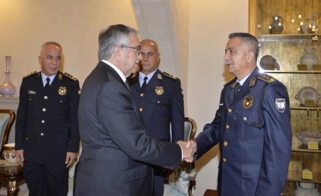 Akıncı, Polis genel Müdürü ve heyetini kabul etti