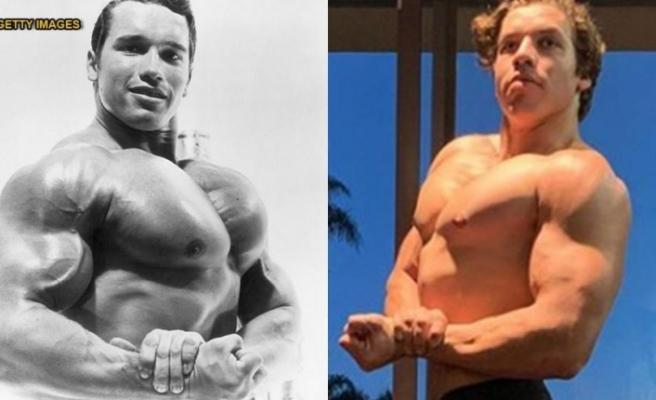 Arnold Schwarzenegger'in tek gecelik kaçamağından dünyaya gelen oğlu, görenleri şaşırttı