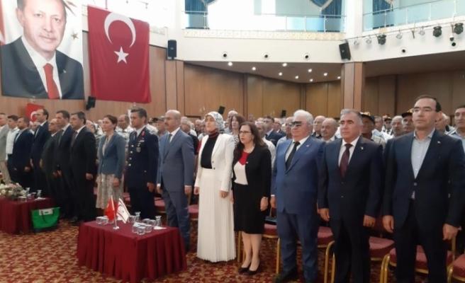 Barış Harekatı'na katılan gazilere Adana'da madalyaları verildi