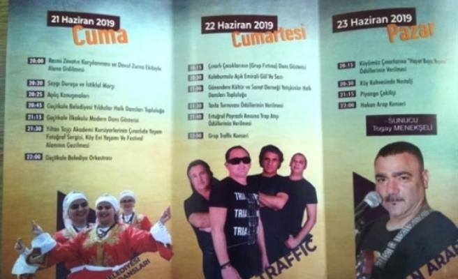 Çınarlı Festivali 21 Haziran'da