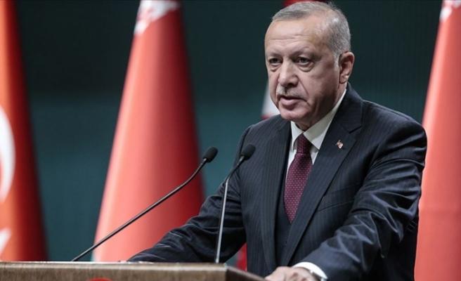 """Erdoğan: """"Kıbrıs Türklerinin hakkını, hukukunu, çıkarlarını gözetmeyen hiçbir adımın atılmasına izin vermeyeceğiz"""""""