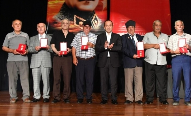 Kıbrıs Barış Harekatı'na katılan 225 gaziye madalya ve beratları verildi