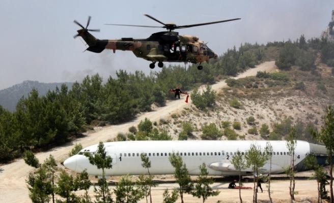 Şehit Teğmen Caner Gönyeli Arama Kurtarma Tatbikatı kara safhası gerçekleşti