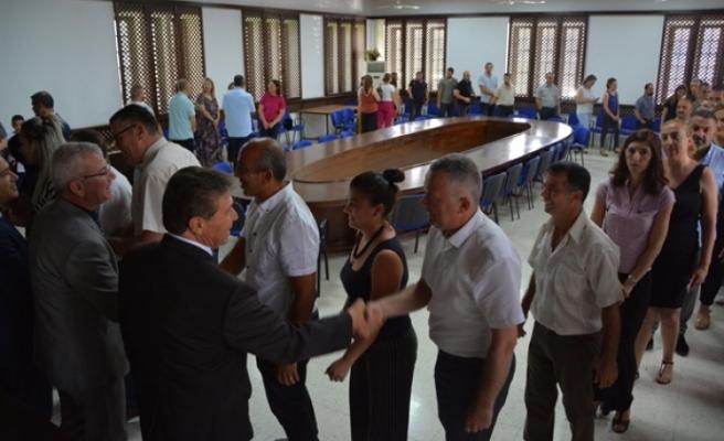 Üstel, OTEM ve Bakanlık personeli ile bayramlaştı