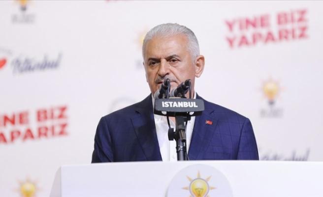 """Yıldırım: """"Rakibimi tebrik ediyorum...İstanbul'a güzel hizmetler yapmasını temenni diyorum"""""""
