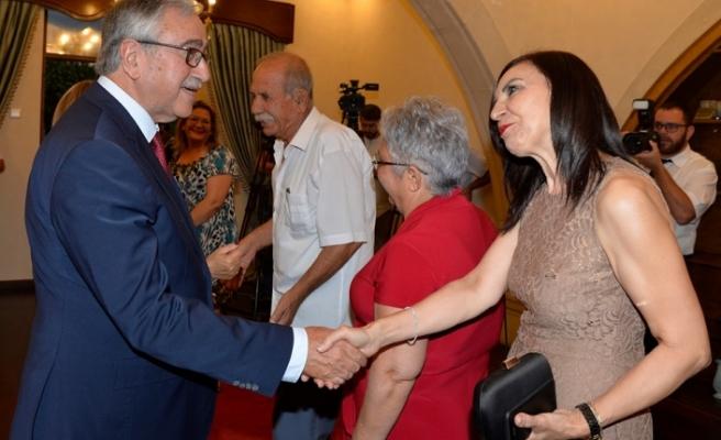 Akıncı,20 Temmuz Barış ve Özgürlük Bayramı dolayısıyla resepsiyon verdi