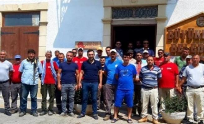 Büyükkonuk Belediyesi'nde 24 saatlik grev!
