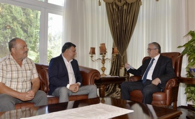 Cumhurbaşkanı Akıncı, Beyarmudu Belediye Başkanı  Edip'i kabul etti