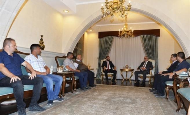 Cumhurbaşkanı Akıncı, Kar-İş Başkanı Akandere ve beraberindeki heyeti kabul etti