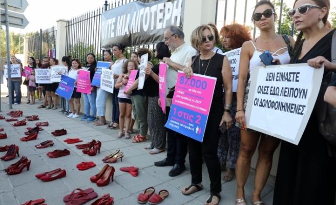 Güneyde cinayete kurban giden kadınlar için protesto