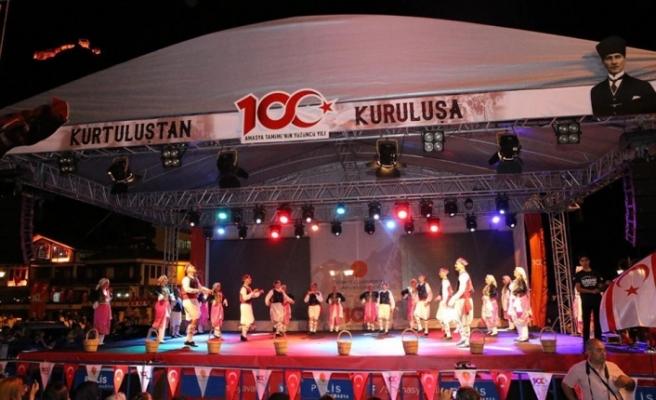 İskele Belediyesi halk dansları ekibi Amasya'da festivae katıldı