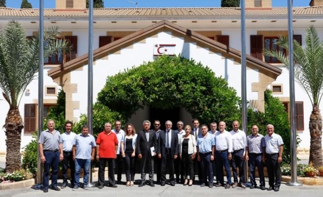 KTEZO heyeti Cumhurbaşkanı Mustafa Akıncı'ya nezaket ziyaretinde bulundu