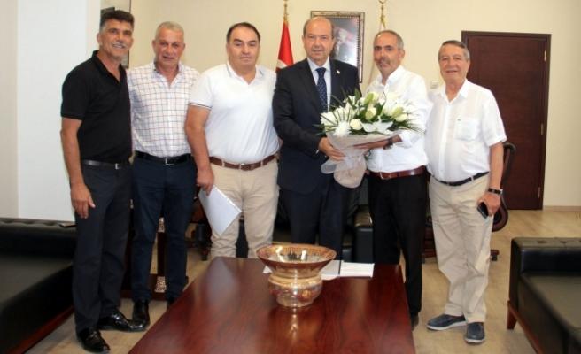 Lefke Yöneticileri Başbakan ile görüştü