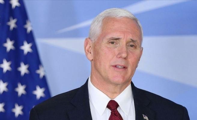 Pence'in seyahatini iptal etmesi Beyaz Saraya göre acil durum değil
