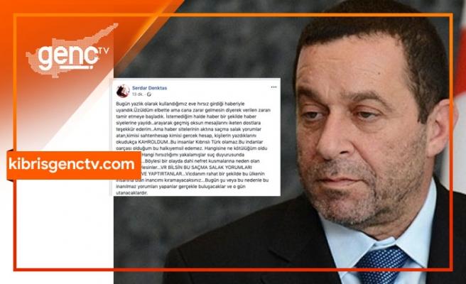 """Serdar Denktaş'tan sitem...""""Bu insanlar Kıbrıs Türkü olamaz"""""""