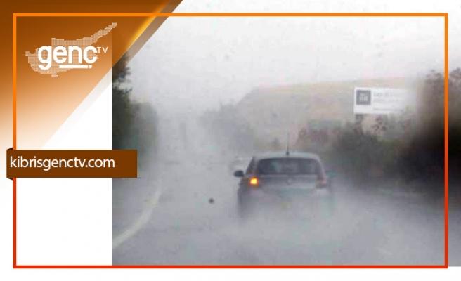 Trodos'ta etkili yağış