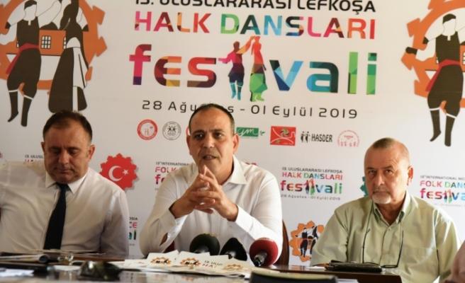 13. Uluslararası Halk Dansları festivali 28 Ağustos'ta