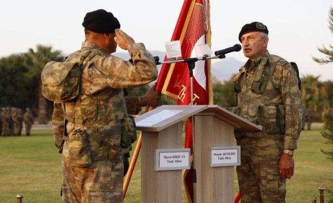 14. Zırhlı Tugay'da komuta ve sancak devir teslimi