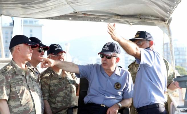 """Akar ve Komutanlar TCG Gemlik'te...""""Gücümüzü, kuvvetimizi kimse test etmesin"""""""