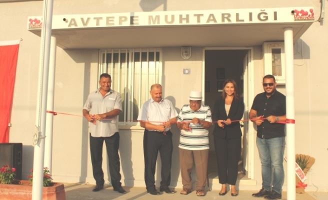 Avtepe Muhtarlık binası açıldı