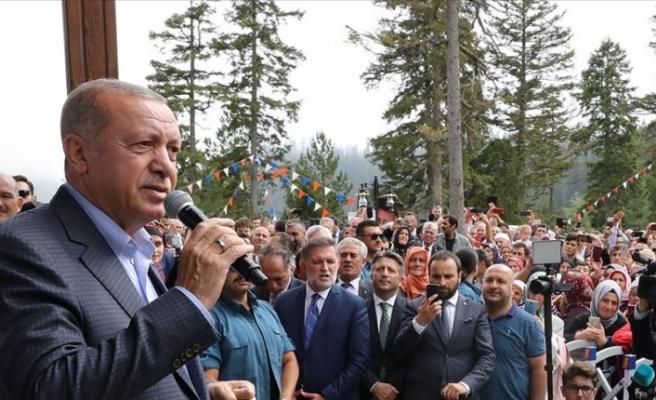 """Erdoğan: """"Kıbrıs Türkleri ile dayanışmanın seviyesi herkese gösterildi"""""""